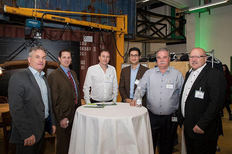 Daniel Kohler (io-market), Sebastièn Caduff (Epiphany), Dirk von Frajer, John Freiermuth, Alex Vogt (alle Optics Balzers), Guido Durrer (thyssenkrupp Presta)