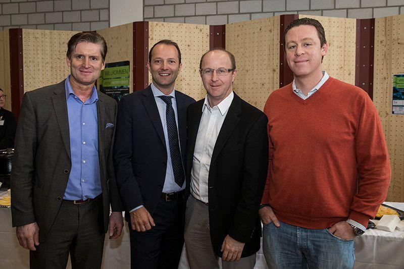 Jürgen Brücker (Universität Liechtenstein), Mathias Maierhofer (FL1), Peter Göppel (BVD), Nicolas Bürer (Digital Switzerland)