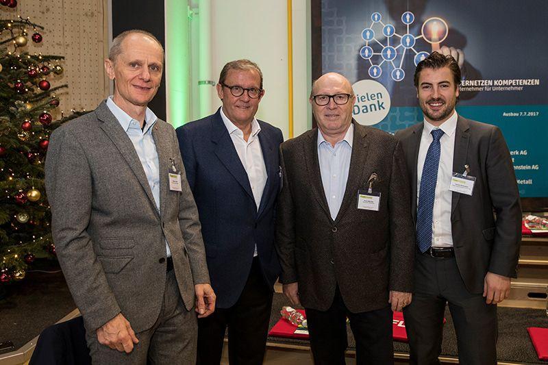 Othmar Oehri (Technopark Liechtenstein), Fritz Kaiser (Kaiser Partner), Franz Wachter (Technopark Liechtenstein), Damian Holenstein (Kaiser Partner)